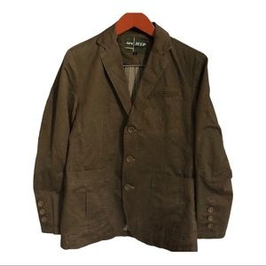 Afs Jeep military green khaki jacket sport coat